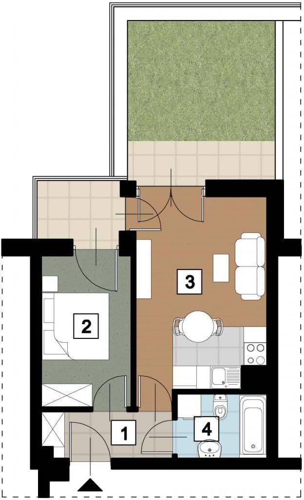 17 02 rzut 624x1024 - Kolejne przetargi na lokale mieszkalne