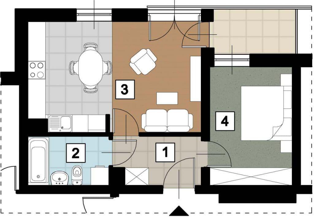 17 53 rzut 17 11 rzut 3 1024x709 - Kolejne przetargi na lokale mieszkalne