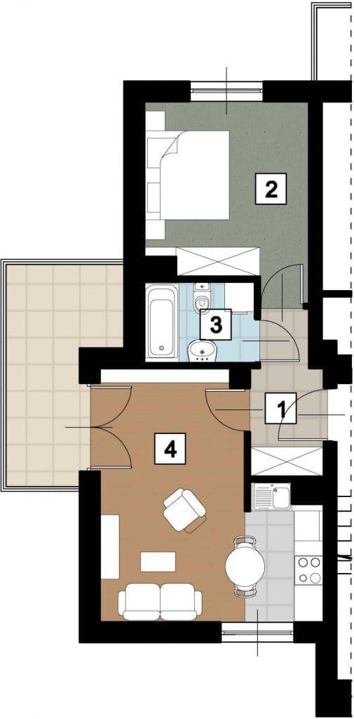 17 01 rzut 505x1024 - Kolejne przetargi na lokale mieszkalne