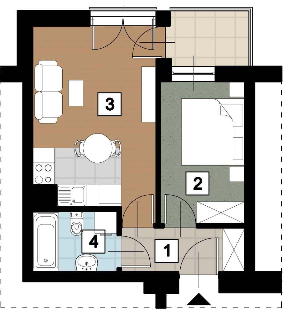 17 23 rzut 17 05 rzut 3 - Kolejne przetargi na lokale mieszkalne